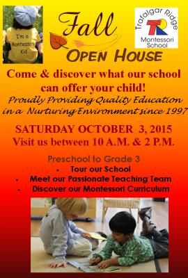 About Trafalgar Ridge Montessori School